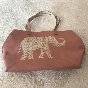 LOFT Pink Elephant Tote